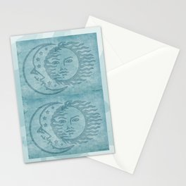 Sun Moon And Stars Batik Stationery Cards