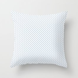 Mouse Forest Friends All Over Repeat Pattern in Baby Blue Throw Pillow