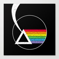 dark side of the moon Canvas Prints featuring Dark Side of the Moon by Maira Artwork