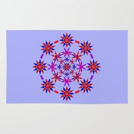 Shuriken Lotus Flower v3 Rug