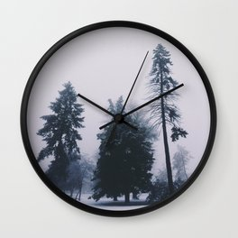 Alone in December Wall Clock