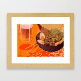 Ramen & Beer Framed Art Print