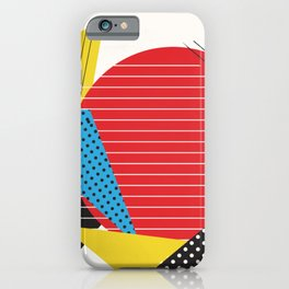 Memphis Sun Abstract Throwback Retro 1980s 80s Trendy Hipster Pattern Eighties iPhone Case
