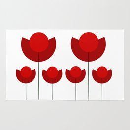 Simple red Tulips Rug