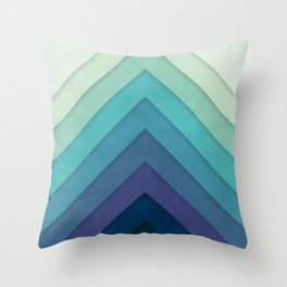 Retro Chevrons 001 Throw Pillow
