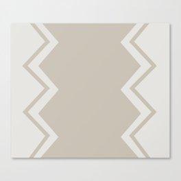 Beige-Chevron Canvas Print