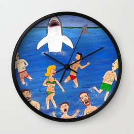 Shark Attack! Wall Clock