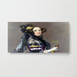 Portrait of Ada Lovelace by Alfred Edward Chalon Metal Print
