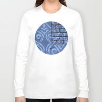 damask Long Sleeve T-shirts featuring Industrial Damask by Jason Simms