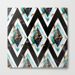 Art deco marble pattern 20s #homedecor Metal Print