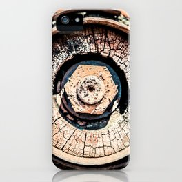 The Rusted Wheel iPhone Case