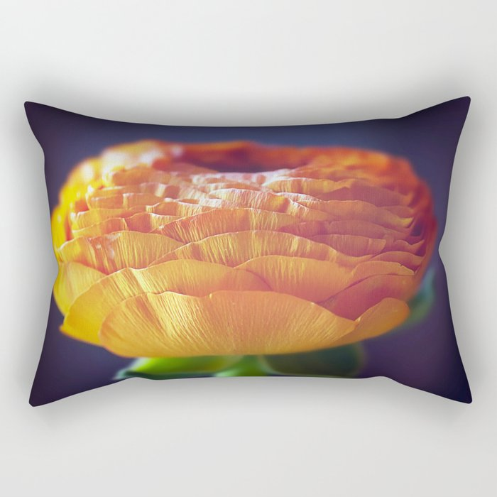 flower orange Rectangular Pillow