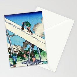 Mt,FUJI36view-Toutoumi in the mountains - Katsushika Hokusai Stationery Cards