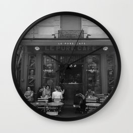 French Cafe - Paris, France Wall Clock