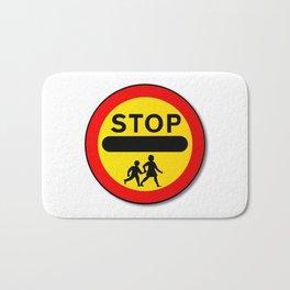 Stop Children Traffic Sign Bath Mat