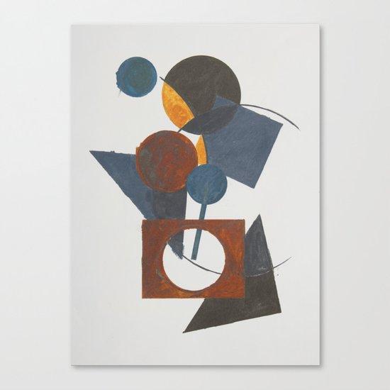 Constructivistic painting Canvas Print