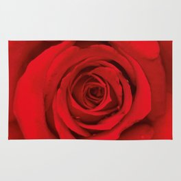 Lovely Red Rose Rug