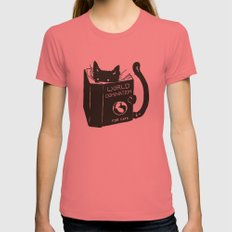 World Domination for Cats (Green) X-LARGE Pomegranate Womens Fitted Tee
