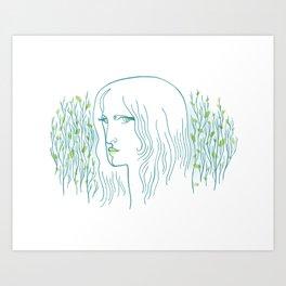 Woods Woman 1 Art Print