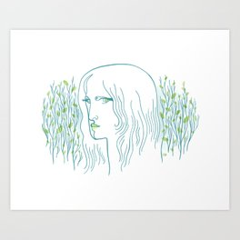 Woods Woman 1 Art Print