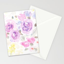 Summer Perfume Floral Flowers-Watercolor Stationery Cards