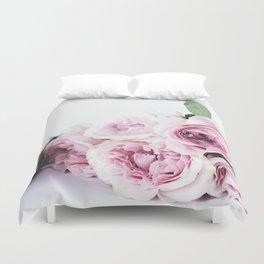 Pink peoniews Duvet Cover