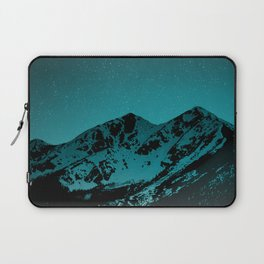 Mountains at night series II // Boulder Colorado Laptop Sleeve