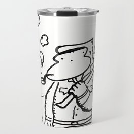 Lumberjack Ape with Pipe Travel Mug