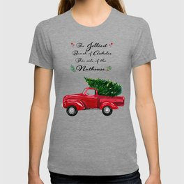 The Jolliest Bunch - Funny Holiday Watercolor Painting T-shirt