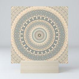 Delicate Sea-foam  Mandala Mini Art Print
