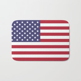 USA flag - Hi Def Authentic color & scale image Bath Mat