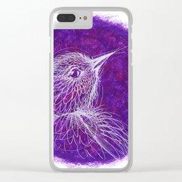 purple bird Clear iPhone Case