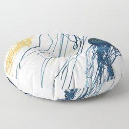 Metallic Jellyfish II Floor Pillow