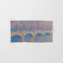 """Claude Monet """"Waterloo bridge"""" Hand & Bath Towel"""