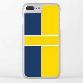 TEAM COLORS 6....navy , gold Clear iPhone Case
