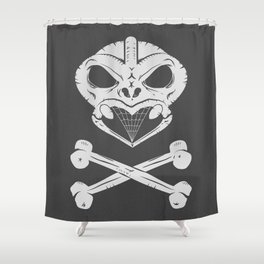 Skull and crossbones tiki Shower Curtain