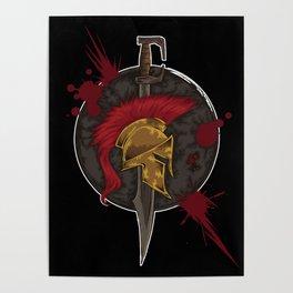 Heroic Spartan Emblem | Warrior Fighter Poster