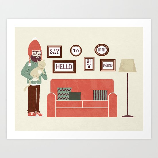 Cat Person Art Print