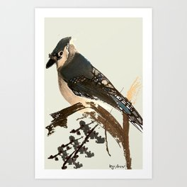 Ocell de Bosc Art Print