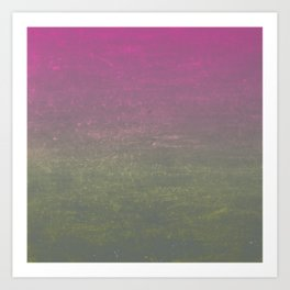 Pink, Gold & Silver Ombre Shimmer Art Print