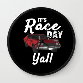 Race day Racing Driver Race Flag Gift Wall Clock