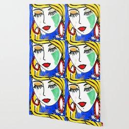 Girl Portrait Pop Art Wallpaper