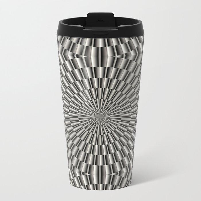 High tech silver metal surface Metal Travel Mug