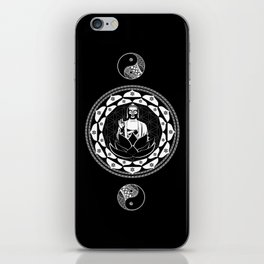 Buddha Black & White Yin & Yang Flower Of Life iPhone Skin