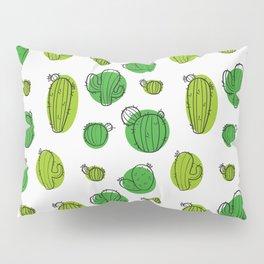 Green Cactus pattern Pillow Sham