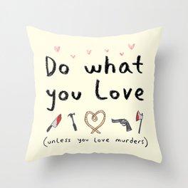 Motivational Poster Throw Pillow