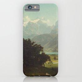 Lake Lucerne by Albert Bierstadt iPhone Case