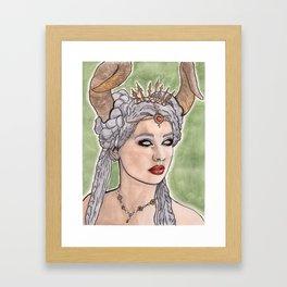 Horned Queen Framed Art Print