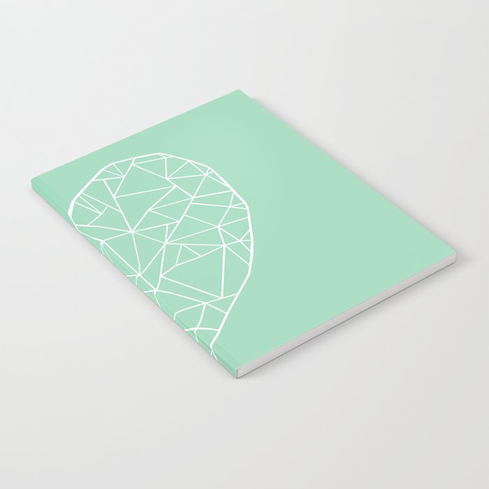 Abstract Heart Mint Notebook