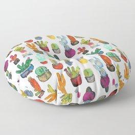 Funky Rainbow Cactus Pattern Floor Pillow